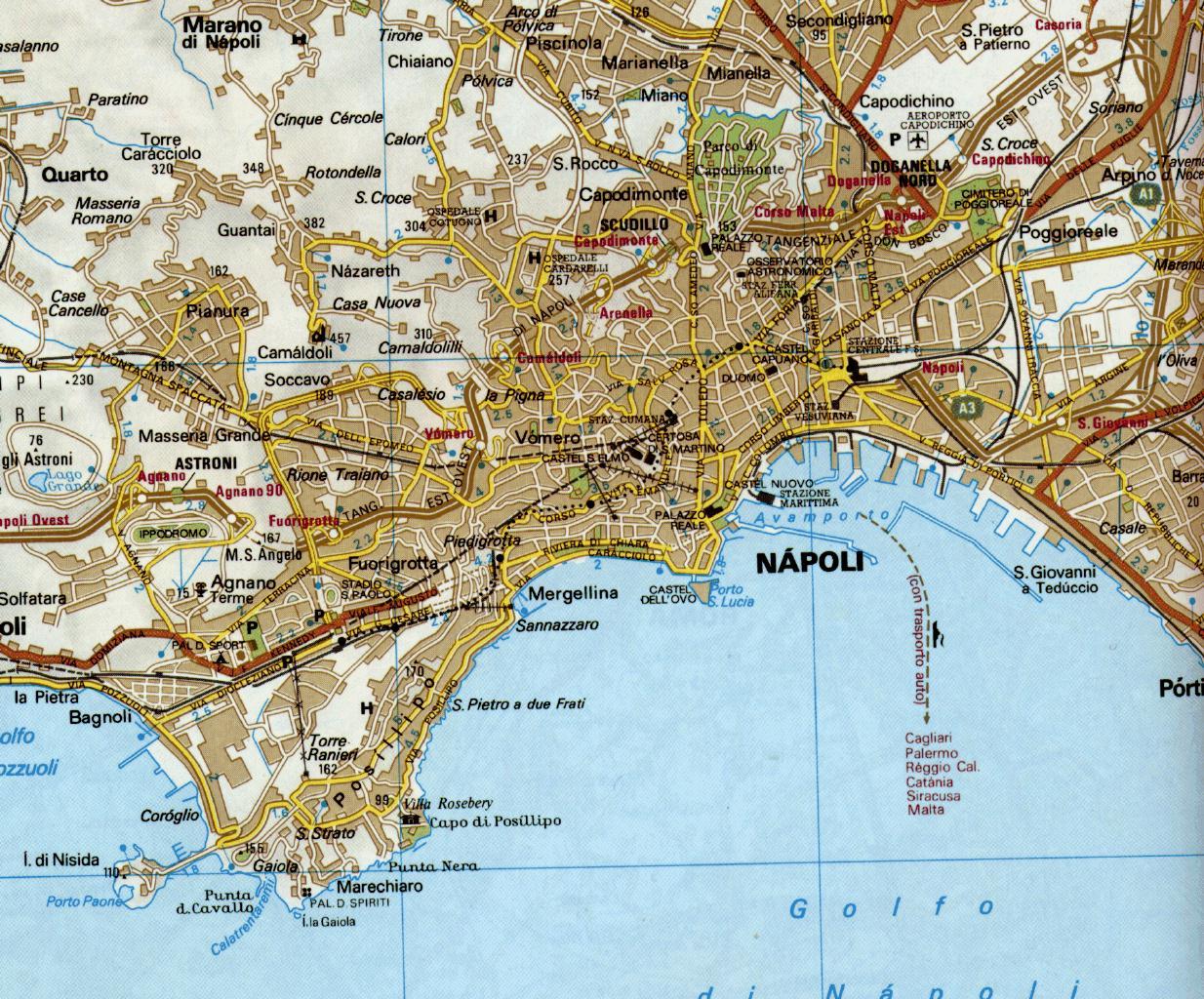 Cartina Fisica Napoli.Dove Siamo Italycenter Naples Italy